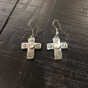Jewelry - Silver Cross Earrings